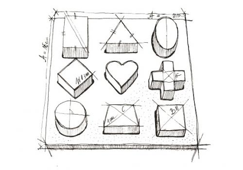 Shape Puzzle Board Naturalne