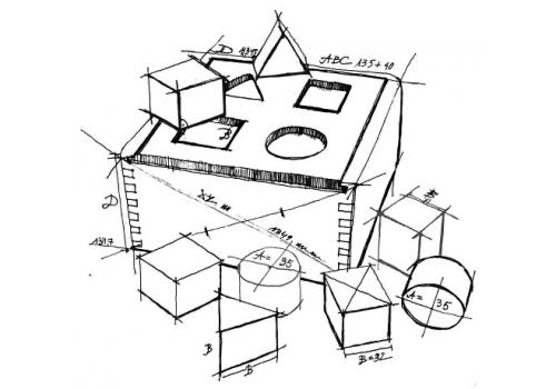 Naturalny Shape Sorter Box