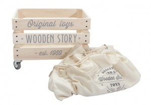 SACK FOR WOODEN STORY CRATE ON WHEELS - 1