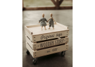 WOODEN STORAGE CRATE ON WHEELS-1