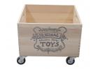 Wooden Storage Crate On Wheels - 2