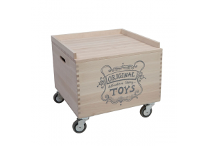 Wooden Storage Crate On Wheels - 2