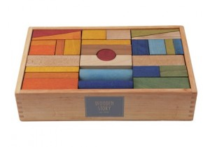 RAINBOW BLOCKS XL 63pcs (in tray)