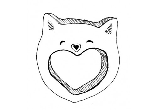 TEETHER -SMILY CAT