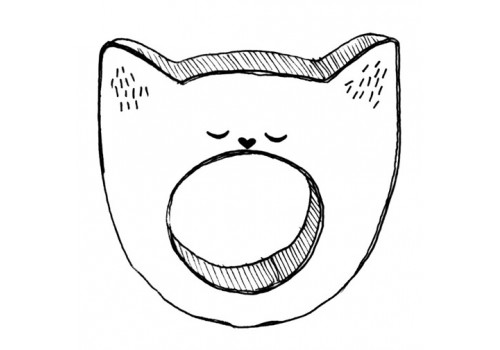 TEETHER - YAWNING CAT